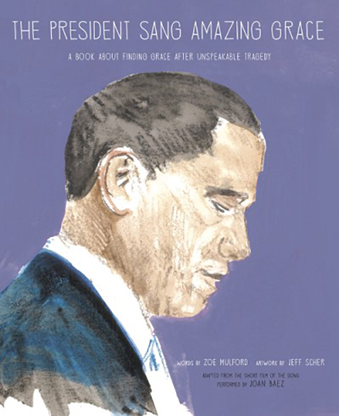 the president sang amazing grace - book cover - cameron books