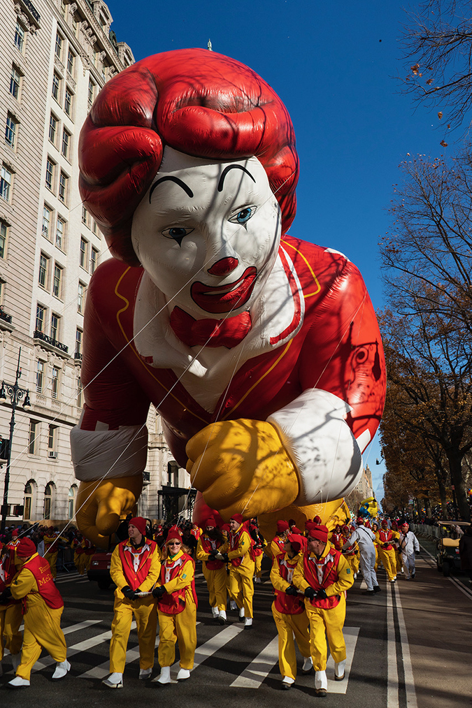 20191128©DayMacyPrde9774.jpg The 93rd Macy's Thanksgiving Day Parade kicked off under windy, sunny skies and cool temperatures as hundreds of thousands line the parade route to celebrate the clowns, floats, and balloons fly by, starting the holiday season in New York City.
