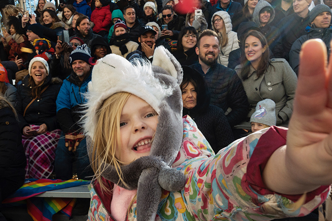 20191128©DayMacyPrde4074.jpg The 93rd Macy's Thanksgiving Day Parade kicked off under windy, sunny skies and cool temperatures as hundreds of thousands line the parade route to celebrate the clowns, floats, and balloons fly by, starting the holiday season in New York City.
