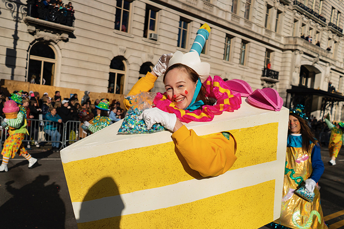 20191128©DayMacyPrde9790.jpg The 93rd Macy's Thanksgiving Day Parade kicked off under windy, sunny skies and cool temperatures as hundreds of thousands line the parade route to celebrate the clowns, floats, and balloons fly by, starting the holiday season in New York City.