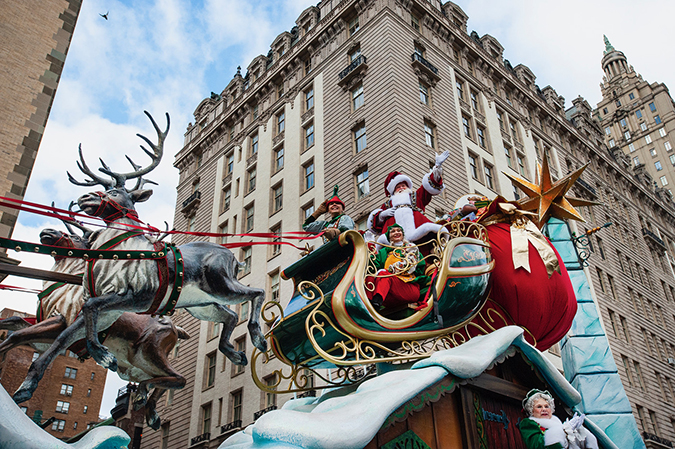 20191128©DayMacyPrde8503.jpg The 93rd Macy's Thanksgiving Day Parade kicked off under windy, sunny skies and cool temperatures as hundreds of thousands line the parade route to celebrate the clowns, floats, and balloons fly by, starting the holiday season in New York City.