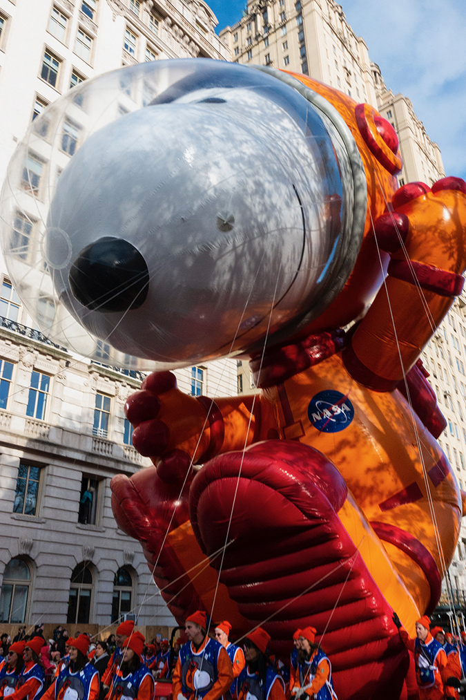 20191128©DayMacyPrde3062.jpg The 93rd Macy's Thanksgiving Day Parade kicked off under windy, sunny skies and cool temperatures as hundreds of thousands line the parade route to celebrate the clowns, floats, and balloons fly by, starting the holiday season in New York City.