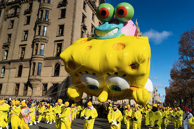20191128©DayMacyPrde9984.jpg The 93rd Macy's Thanksgiving Day Parade kicked off under windy, sunny skies and cool temperatures as hundreds of thousands line the parade route to celebrate the clowns, floats, and balloons fly by, starting the holiday season in New York City.
