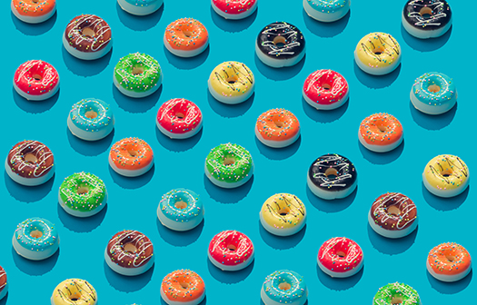 colorful donuts - Zamurovic Photography - Shutterstock