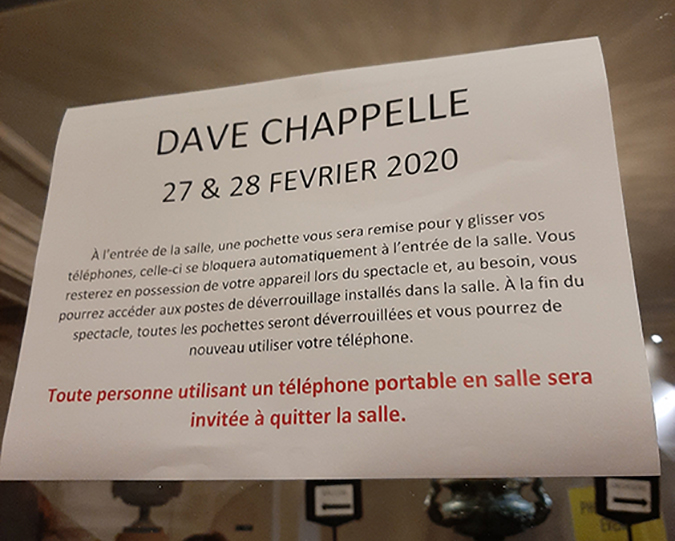 dave chapelle in paris - notice
