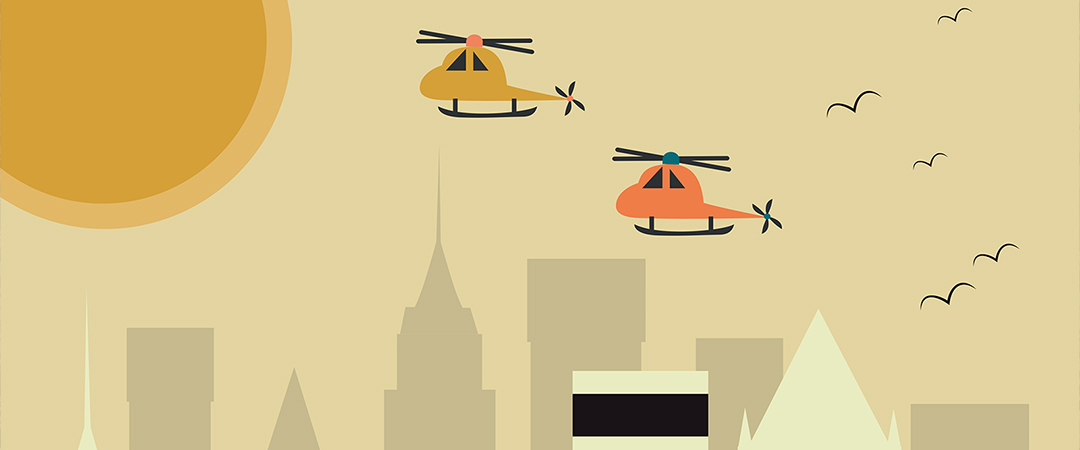 Helicopters In The City - Art - Ladoga - Shutterstock - Feature