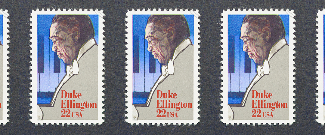 duke ellington - us postage stamp - catwalker - Shutterstock - feature
