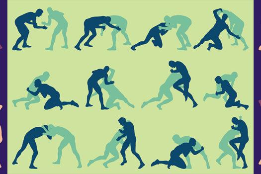 wrestling silhouettes - kstudija - Shutterstock