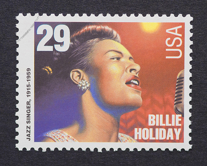 billie holiday - 1995 US postage stamp - catwalker - embed