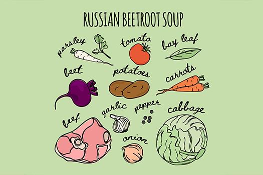 borscht illustration - Ulia Solovieva - Shutterstock