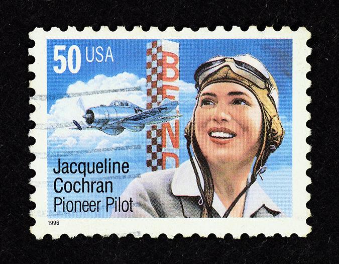 jacqueline cochran - US postage stamp - Gwoeii - Shutterstock - embed