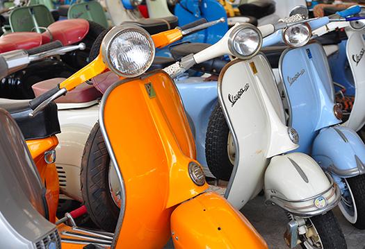 orange vespa - Alivepix - Shutterstock