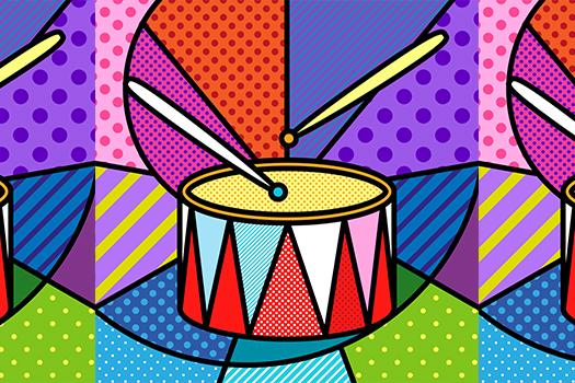 pop art drums - Lilli Jemska Studio - Shutterstock