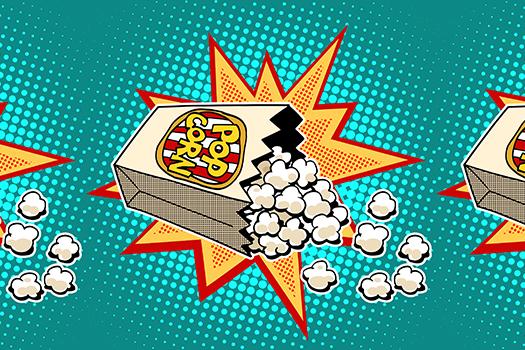 popcorn art - studiostoks - Shutterstock