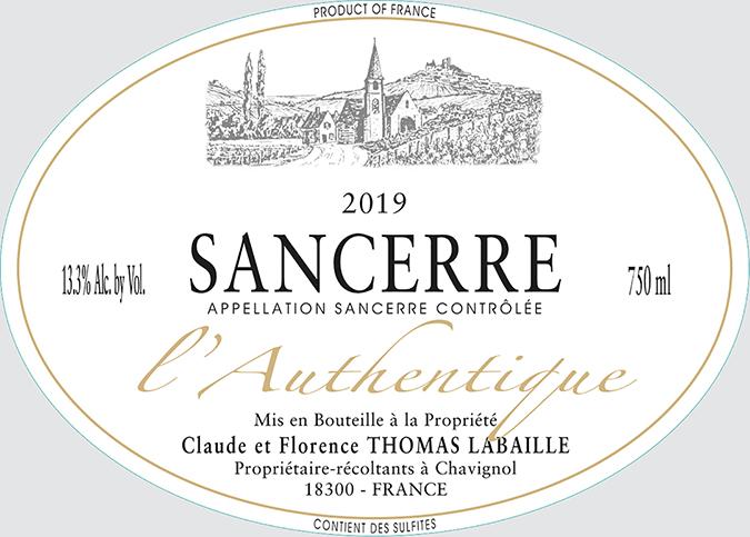 Thomas-Labaille Sancerre Chavignol L'Authentique Rosé 2019 - label - embed