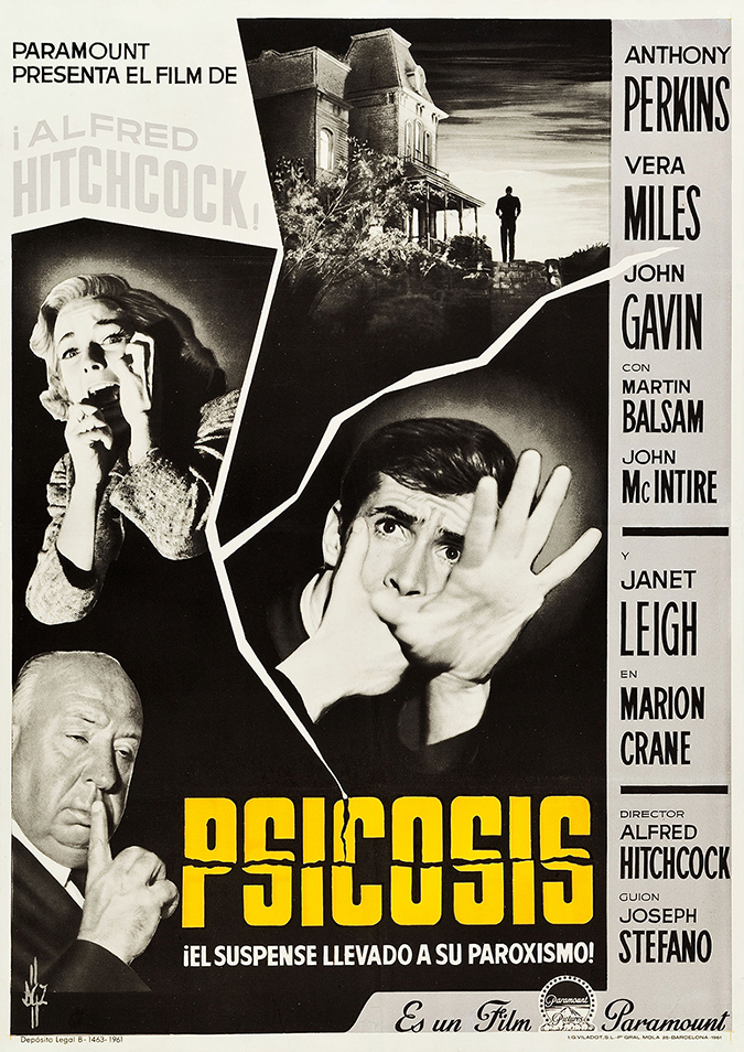 barcelona - spain - psycho - movie poster - 1960 - paramount pictures - embed
