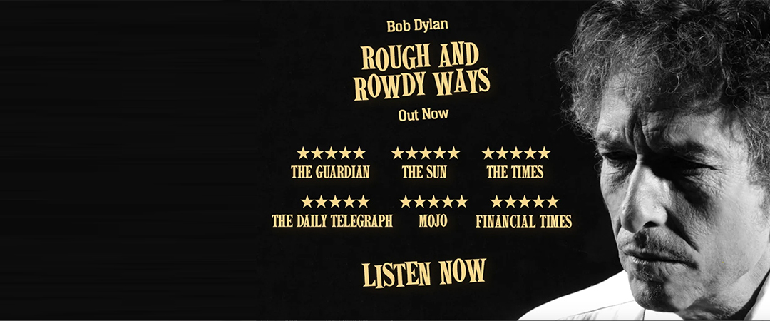 bob dylan - rough and rowdy ways - official bob dylan website graphic - feature