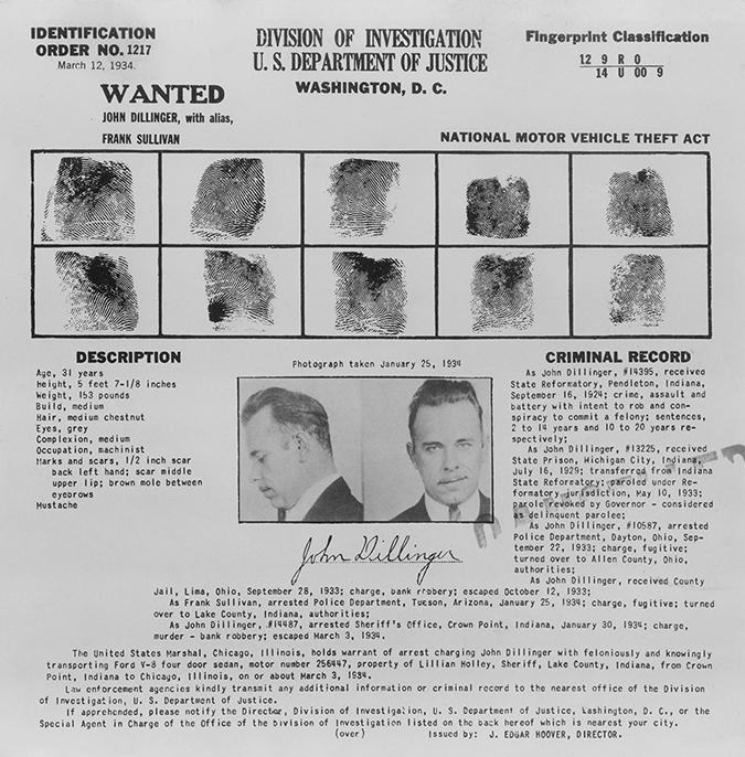 john dillinger - wanted poster - Everett Historical - Shutterstock - embed