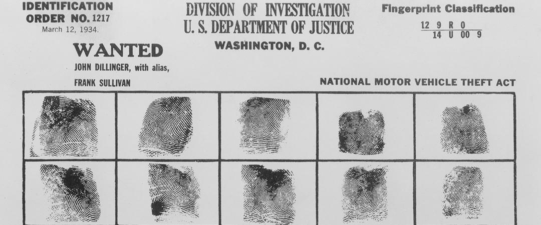 john dillinger - wanted poster - Everett Historical - Shutterstock