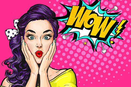 pop art woman with wow face - LuckyN - Shutterstock