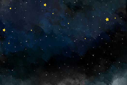 starry night sky - art by samantha cheah - shutterstock
