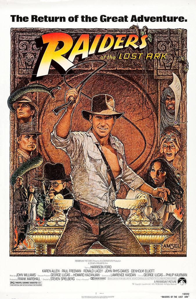 raiders movie poster - paramount